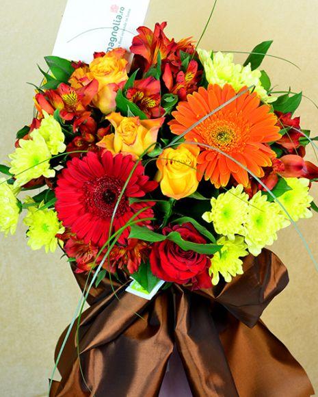 Buchet cu flori de toamnă. Fall flowers bouquet