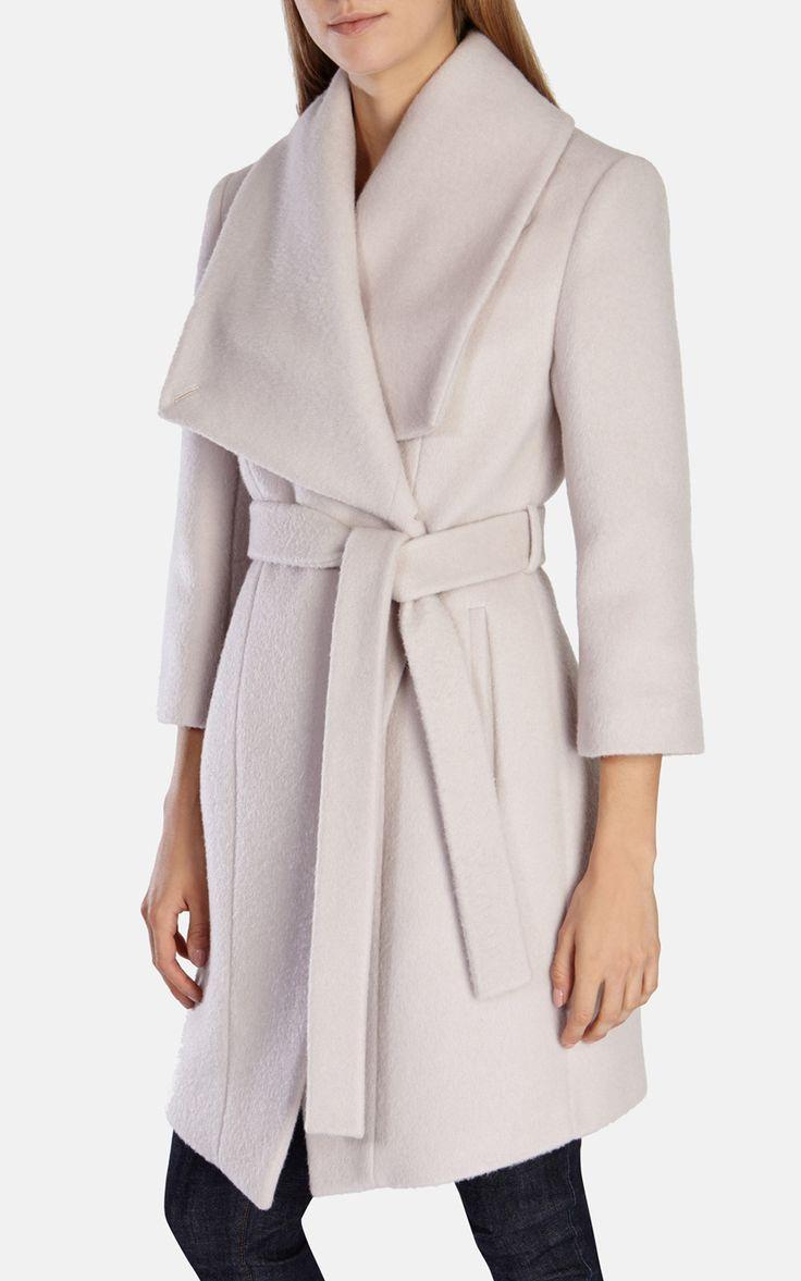 WOOL MOHAIR BELTED OVERSIZED COLLAR COAT | Luxury Women's outerwear | Karen Millen
