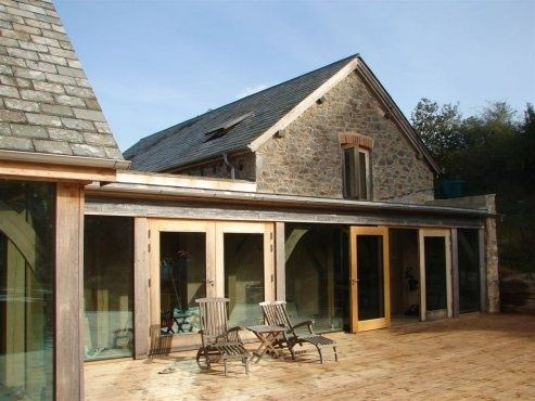 Stone barn conversion with glazed oak