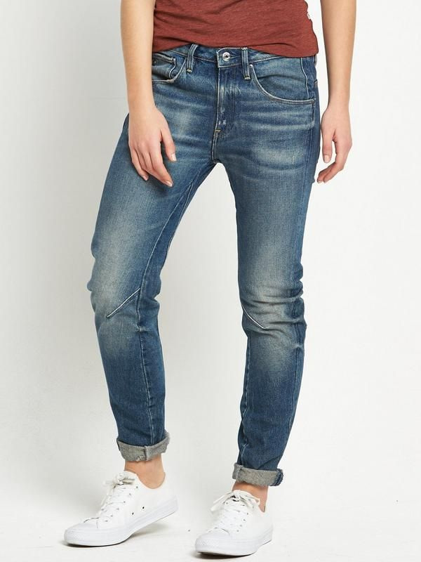 G-Star RAWArc 3D Boyfriend Jeans Crafted using the G-Star RAW 3D design principles, the Arc jeans deliver maximum comfort as well as freedom of movement. Twisted inner and outer seams keep the fit dynamic, despite being a more relaxedboyfriend cut, wrapping gently around the leg, while expert tailoring means a more flattering and relaxed silhouette.With a soft hand feel and lived in look, these denims will be casual and comfy and easy to throw on with your collection of tees and…