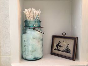 The Farmer's Wife, IN: Canning Jar Cotton Ball and Q-tip Holder