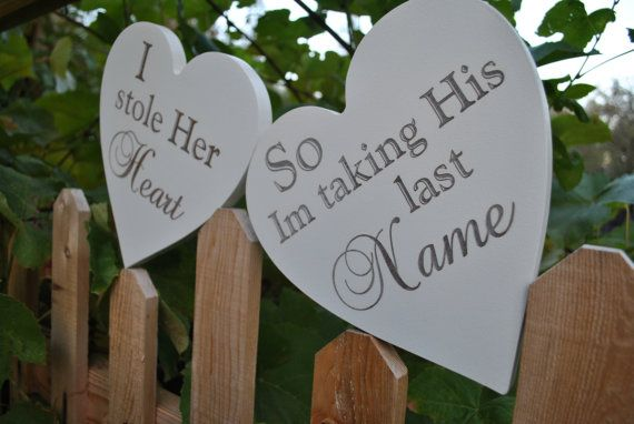 I Stole Her Heart So I'm Taking His Last Name by vintagehints, $56.00
