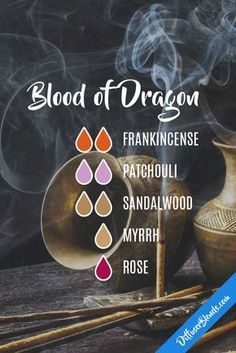 Dragon's Blood essential oil diffuser blend.