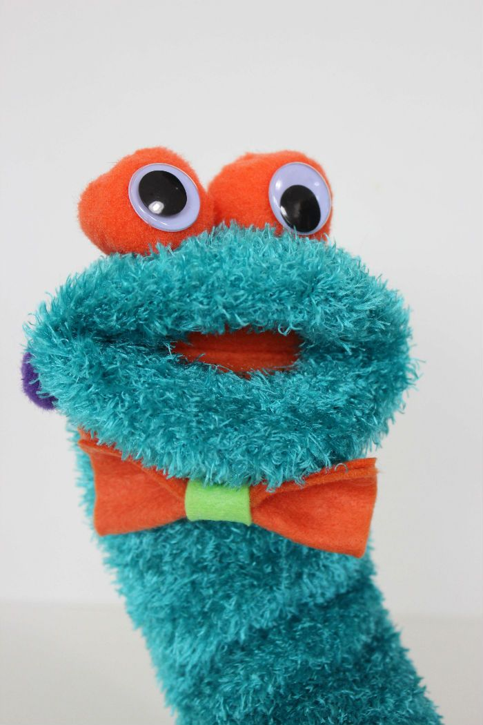 Adorable DIY Sock Puppet