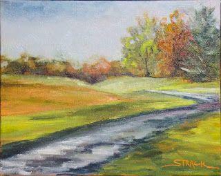 Meyer's Farm Road, 8x10 #pleinair oil, $195.