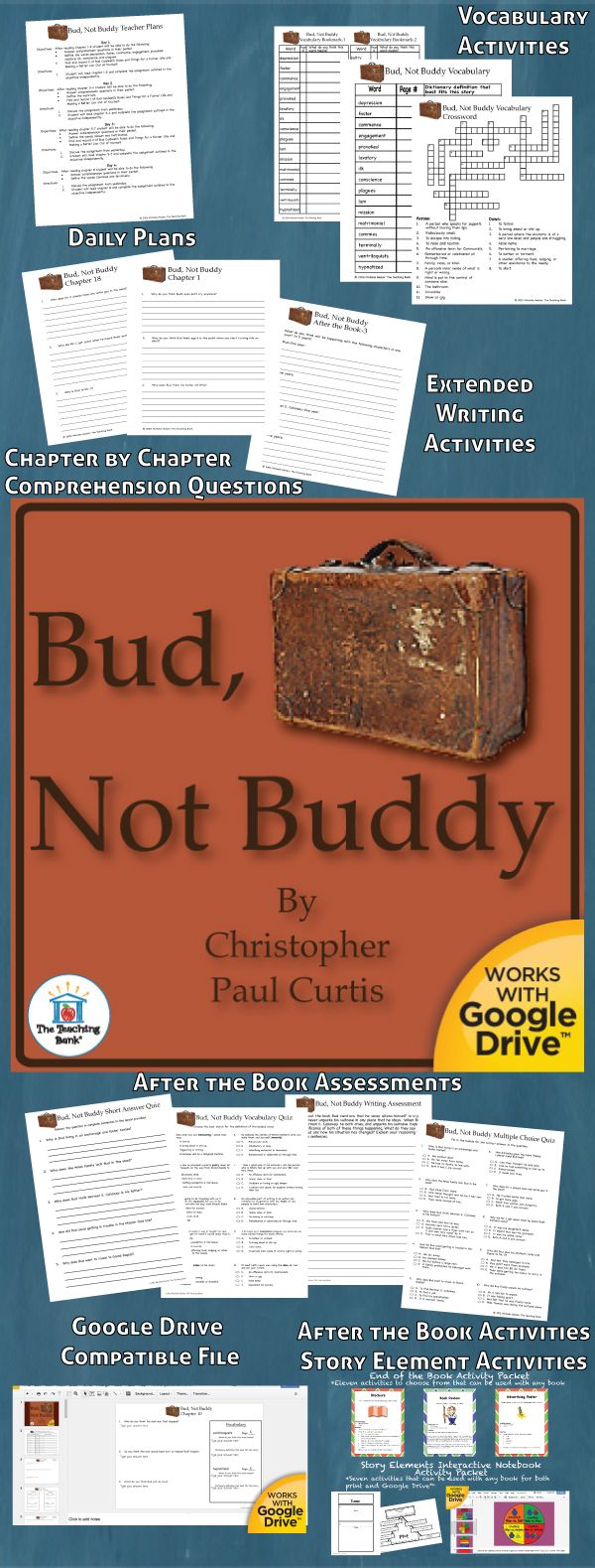 multicultural analysis of bud not buddy Click here to view all 263 instructional materials by resource type for all of the books and authors on this booklist.