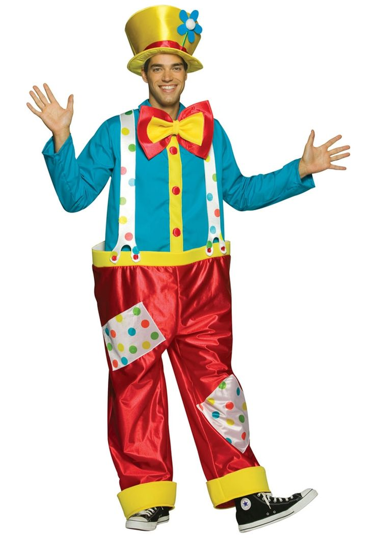 Clown Costume Adult Male - Funny at Escapade™ UK