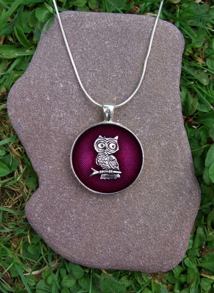 Owl pendant, owl and purple resin pendant, silver owl pendant, owl necklace, owl gift, owl jewellery, bird pendant, purple resin pendant. by JanicesJewelsUK on Etsy