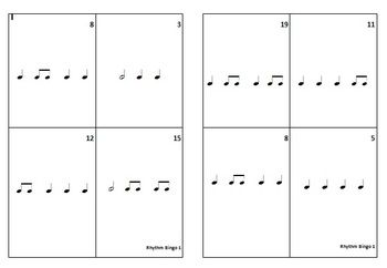 MUSIC: Rhythm Bingo 1. Play Rhythm Bingo the Aussie way while making learning rhythms easy and fun for your students!  $