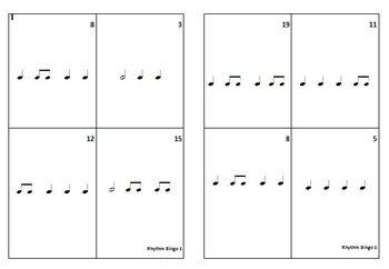 MUSIC: Rhythm Bingo 1. Play Rhythm Bingo the Aussie way while making learning rhythms easy and fun for your students!  $