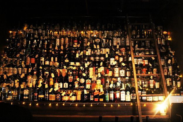 More whiskey than you can poke a metaphorical stick at @ The Baxter Inn
