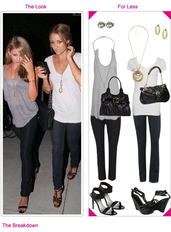 tight jeans loose v neck long neckless: Casual Style, Simple Night Outs Outfits, Clothing Accessories, California Style, Conrad Style, Black Jeans, Lauren Conrad, Boho Fashion, Boho Casual