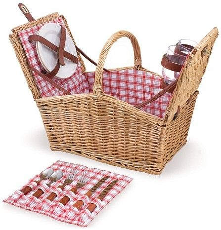 The Picnic Time Piccadilly Picnic Basket Set is a 16 in Woven Basket Picnic Set with full service for two.  All Picnic Time Picnic Basket Sets are backed by a limited lifetime warranty - 202-19-114 $69.95