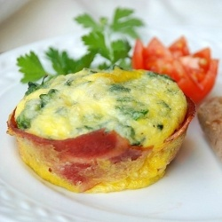 Spinach and Cheese Egg Cups by WillCookForSmiles