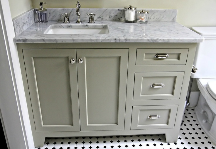 Offset sink makes for better use of countertop by resident urban grace interiors baths Used bathroom vanity with sink
