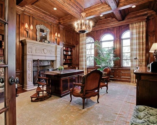 Mediterranean Home Office Design, Pictures, Remodel, Decor And Ideas   Page  5