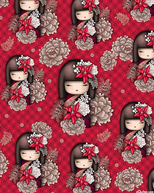 Nobuko Believe - Kimmidoll Kokeshi - Lacquer Red the more modern versions of little kokeshi...