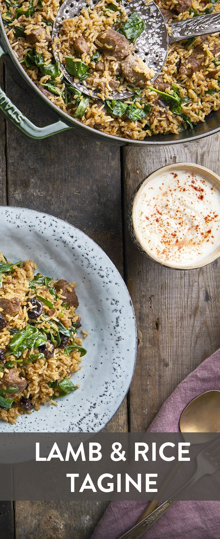 We have teamed up with Great British Chefs to bring you this lamb and rice tagine with deep aromatic spices paired with cooling yogurt and nutty Tilda Wholegrain Basmati rice.