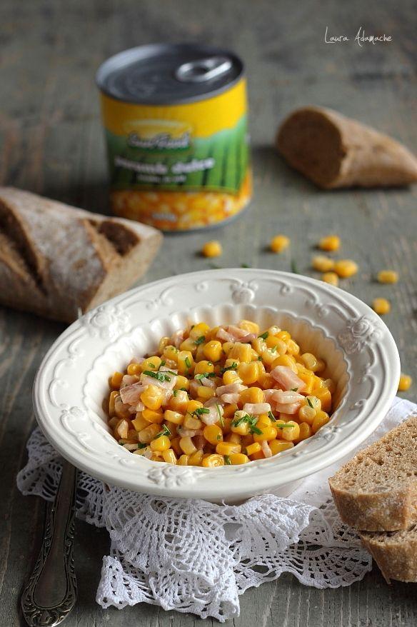 Salata calda de porumb - http://www.lauraadamache.ro/2014/03/salata-calda-de-porumb.html