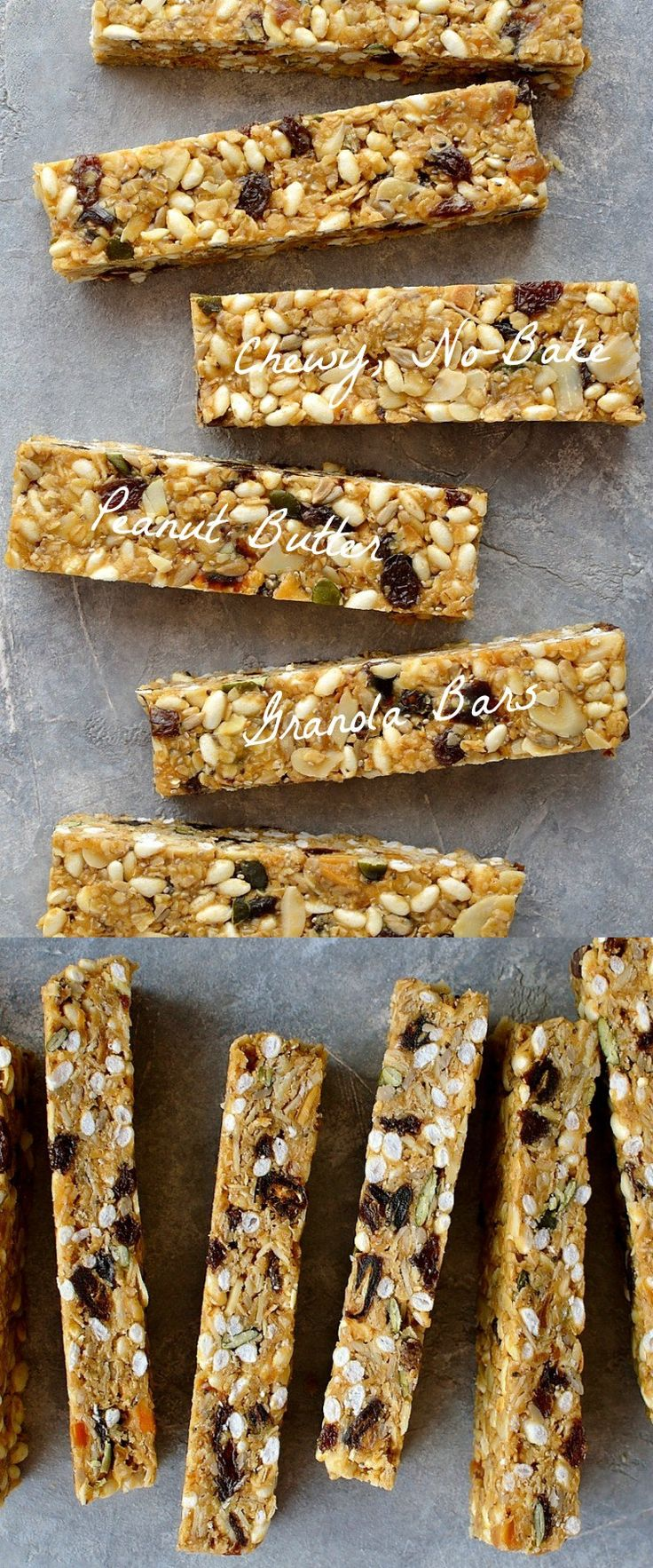 Gotta get Nel to help me convert the recipe... chewy, no-bake peanut butter granola bars - easy to make, versatile snack bars filled with oats, seeds, nuts and dried fruit.