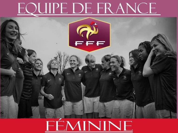 France Women's National Team L-R  Gaetane Thiney, Elodie Thomis,  Elise Bussaglia, Eugénie LeSommer,Sonia Bompastor, Laure Lepailleur, Corine Franco, Louisa Necib, Camille Abily, Celine Deville, Laura Georges, Laure Boulleau