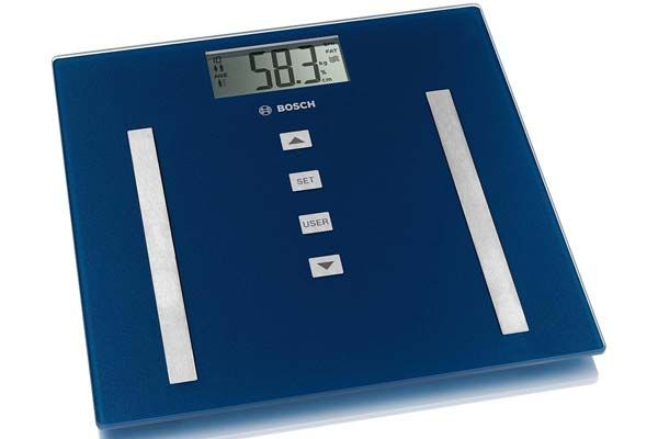 Gama de básculas de baño de Bosch, con y sin medición de la masa ósea, porcentaje de líquidos e IMC