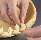 You know how to crimp your pie crust, now learn how to dress those pies up with a decorative pie crust edge. In this video, you'll learn how to make three distinctedges for your pie crusts.