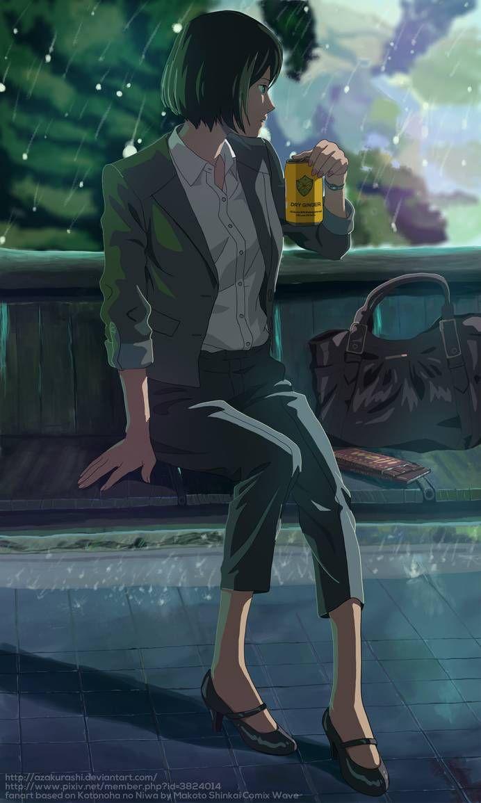 Garden Of Words Kotonoha No Niwa By Azakurashi Garden Of Words Anime Anime Films