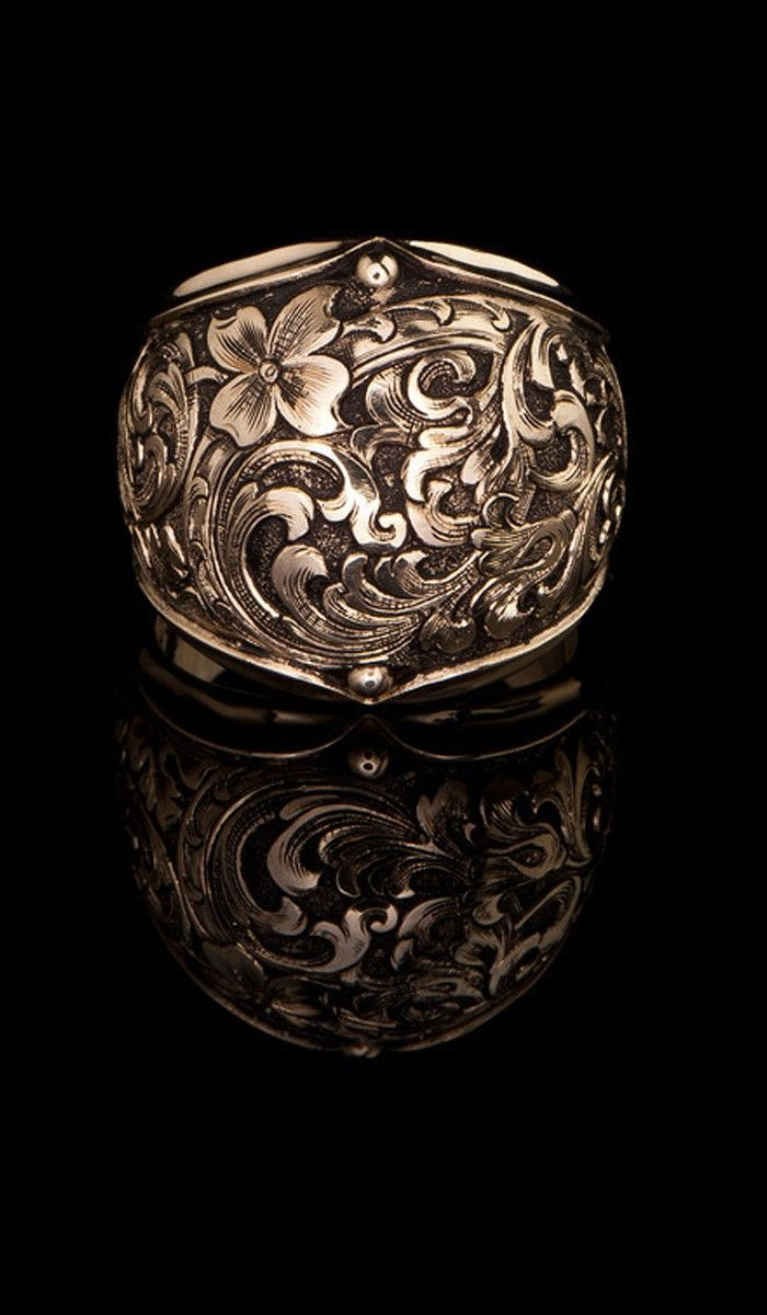 J. Chapa Hernandez | Western Floral Design Ring GR-616 - LATEST DESIGNS | Bellevue, WA