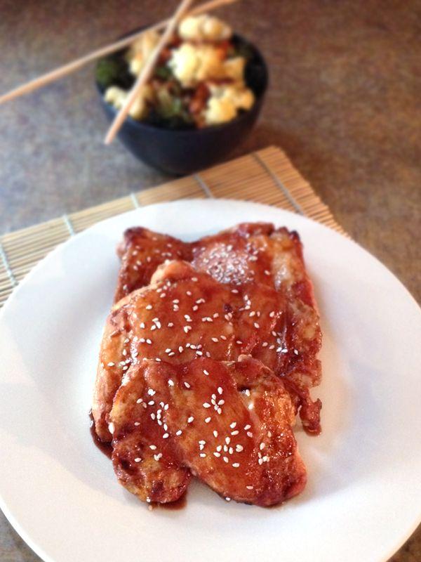 Baked Teriyaki Chicken | ½ cup Raw Honey, ½ cup Coconut Aminos, ¼ Apple Cider Vinegar, 1 clove Garlic, minced ½ tsp Ground Ginger, ¼ tsp Fresh Ground Black Pepper, 9-12 Skinless Chicken Thighs
