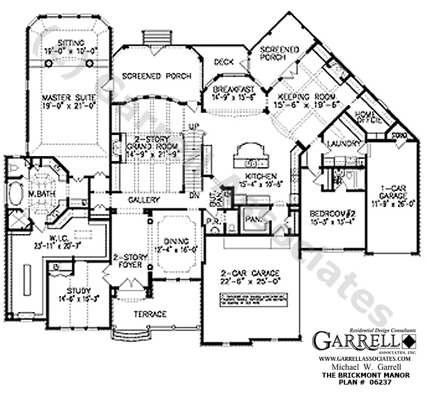 Brickmont manor house plan 06237 1st floor plan Manor house floor plan