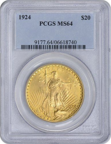 1924 Twenty Dollar St. Gaudens Gold MS64 PCGS -- Want additional info? Click on the image.