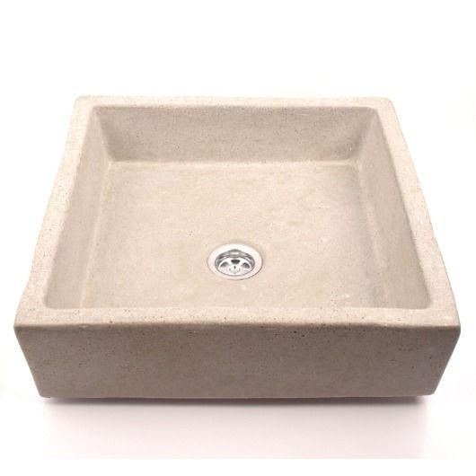 dodatki - łazienka-umywalka z betonu kwadratowa UB9