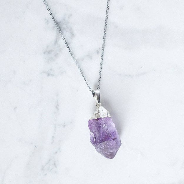 This silver and periwinkle dream. | 23 Mystical Amethyst Necklaces You'll Never Want To Take Off