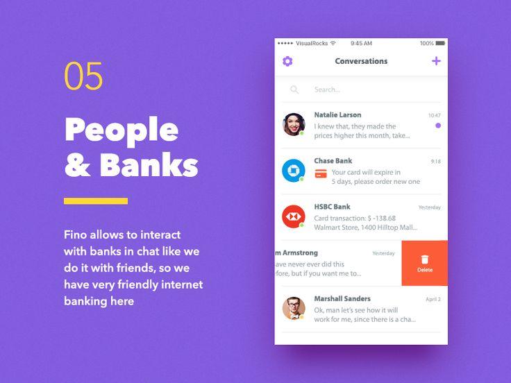 Fino Finance Messenger Contact List by VisualRocks.co