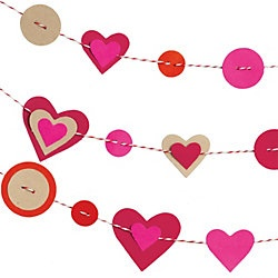 valentine's garland - cute to hang from a mantel - all three strings!