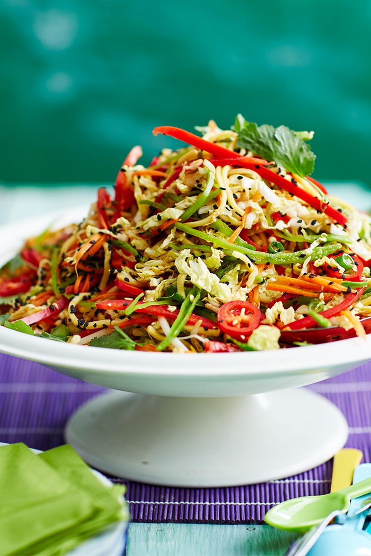 This Asian-style noodle and cabbage salad is flavoursome, filling and oh-so delicious!