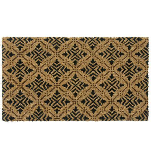 Tan Classic Fleur De Lis French Matting Door Mat Rubber Cal Door Mats Rugs Home Decor