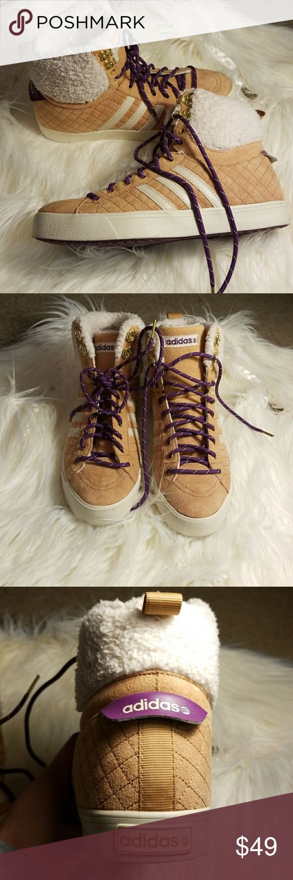 NWOT Adidas NEO Hightops Suede Adidas high tops. Brand new and never worn. NEO label size 8. No issues or marks. adidas Shoes Sneakers