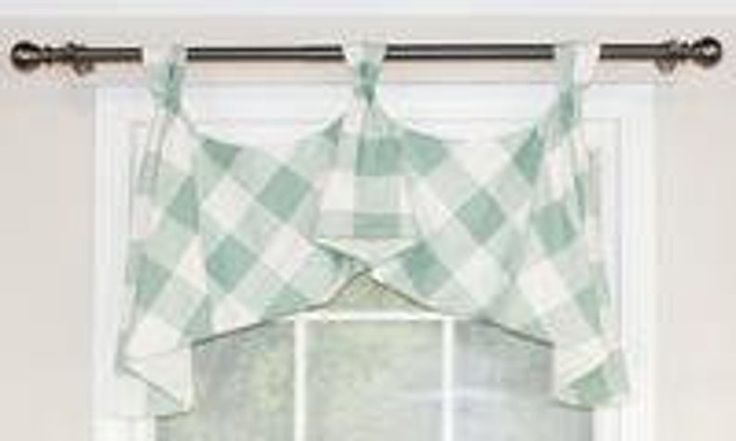 Buffalo Check Tab Flounce Valance Panel Or Pillow With Images Valance Decorative Curtain Rods Buffalo Check