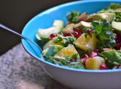 ... Pomegranate Almonds and Avocado | Recipe | Kale Salads, Pomegranates