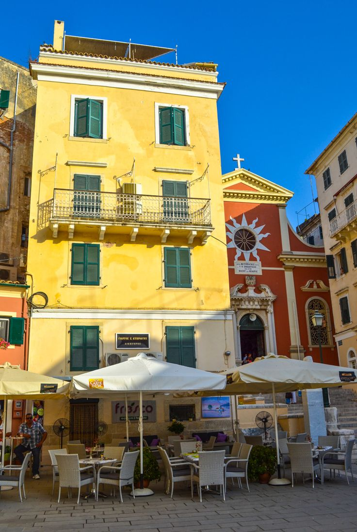 Corfu Town, Greece One of my favorite places is the island of Corfu.