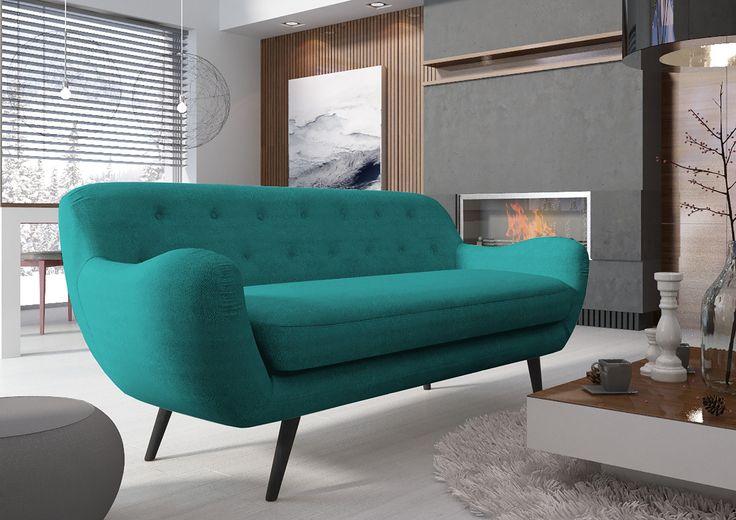 Sofy retro połączone z nowoczesnością to nasz typ!   #retro #meble #salon #design #interior #furniture #tapicerowane #inspiracje #sofa #interiordesign
