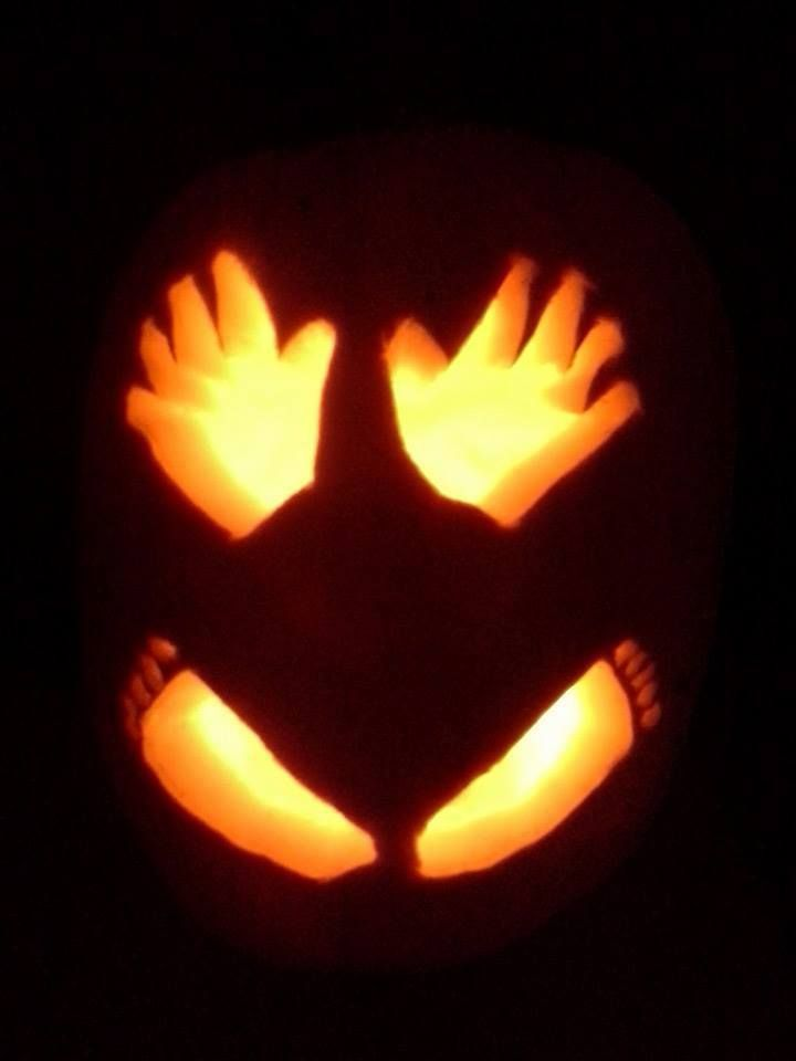 Baby's 1st Halloween Pumpkin Carving Ideas - Just 2 Sisters
