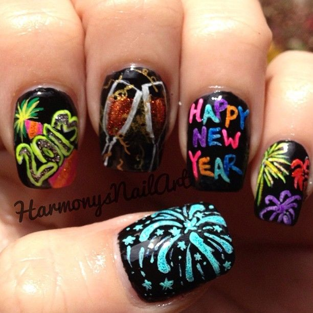 42 best happy new year nail designs images on pinterest new happy new years nails prinsesfo Choice Image