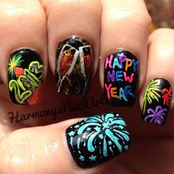 Happy New Years Nails