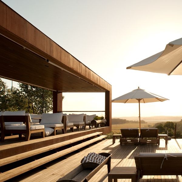 Brazilian hotelier Rogerio Fasano took a gamble when he built Fasano Punta del Este 12 miles inland from Uruguay's popular beaches. When guests enter the gates to the 1,200-acre property, they see cattle and horses grazing on expanses of pastureland. For the reception area, modernist architect Is...