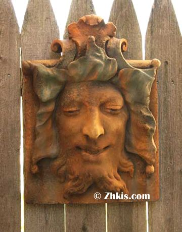 Smiling Green Man Wall Plaque