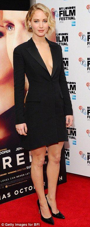 Award-winning: Both Jennifer Lawrence and her cake alter-ego have won awards...