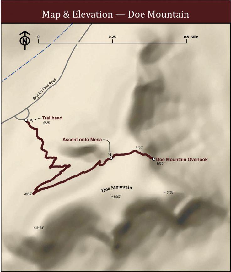 Doe Mountain Sedona Trail Map